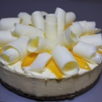 Mango & White Chocolate Cheesecake